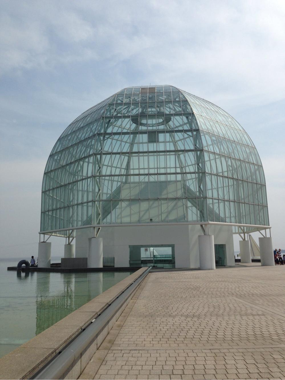 水族館外観ドームの写真